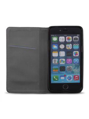 Plånboksfodral exklusivt magnet iPhone 6 / 6S - Svart