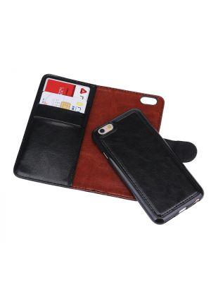 Plånboksfodral exklusivt magnet iPhone 5/5S/5SE - Svart