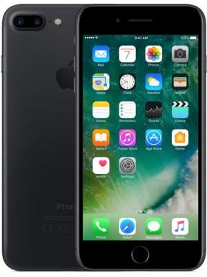 iPhone 7 Plus 128GB Svart   OKEJ SKICK   OLÅST